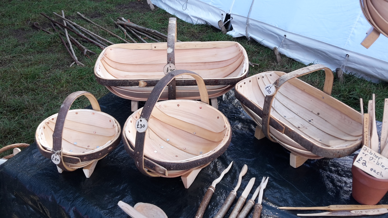 4 hand made trugs
